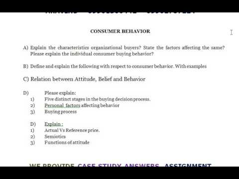 consumer behavior examples