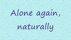 Alone Again Naturally - Gilbert O'Sullivan Lyrics
