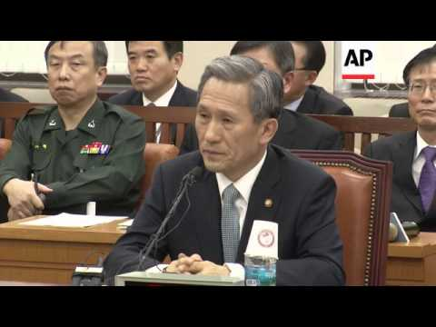 SKorea Defence Minister says gvt plans to extend air defence zone