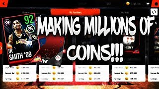 FREE 87 OVR UPGRADE + MAKING MILLIONS OF COINS!!! ROAD TO THE TOP NBA LIVE MOBILE 18 EP. 24!!!
