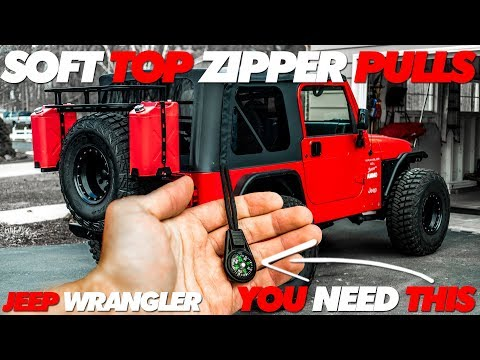 Jeep Soft Top Zipper Pulls | You Need these
