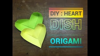 Heart Dish Origami ( H Vass lldiko ) - Easy craft