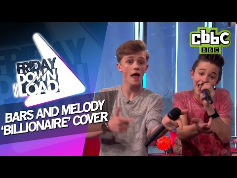 Bars and Melody cover 'Billionaire' with lyrics on CBBC Friday Download