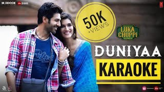 Duniyaa (Luka Chuppi) - KARAOKE With Lyrics || Akhil Khaab New Version || New Bollywood Karaoke 2019
