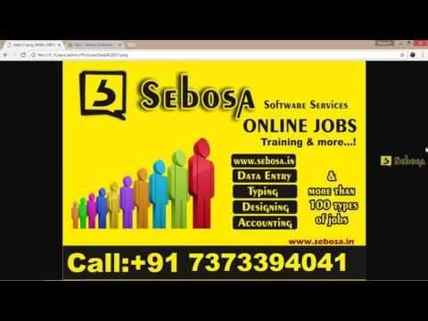 1.what is online job?   Online jobs training in tamil
