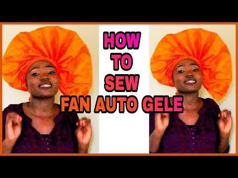 HOW TO SEW AUTO GELE FAN USING NEEDLE AND THREAD ONLY | READY TO WEAR GELE | HOW TO SEW AUTO GELE