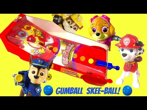 Paw Patrol Plays Gumball Skee-Ball for Toy Surprises   Fizzy Toy Show