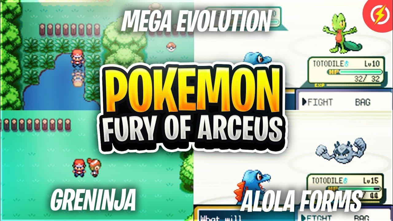 Pokemon Fury of Arceus - New Pokemon GBA Rom Hack With Greninja, Mega  Evolution, Alola Forms! (2019)
