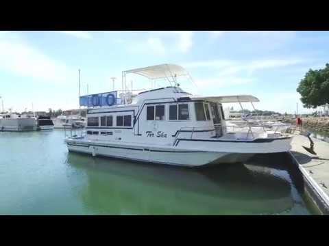 Coher 45 Flybridge Houseboat for sale, Action Boating, boat sales, Gold Coast, Queensland, Australia