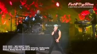 BON JOVI - WE DON'T RUN ( Premiere New Single ) live in Jakarta, Indonesia 2015