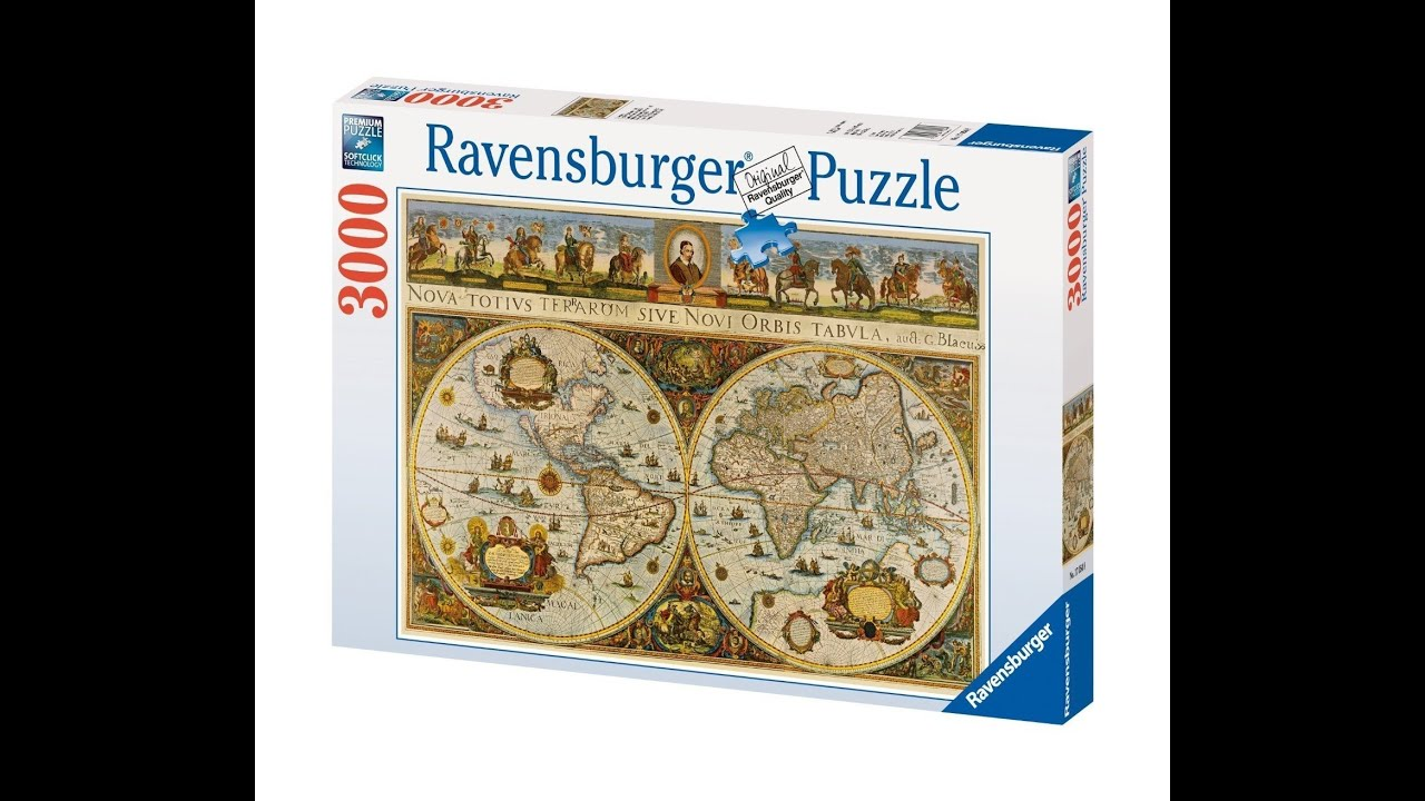 Time lapse puzzle world map 1665 ravensburger 3000 pieces youtube gumiabroncs Images