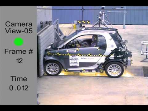 smart fortwo electric drive frontal crash test youtube. Black Bedroom Furniture Sets. Home Design Ideas