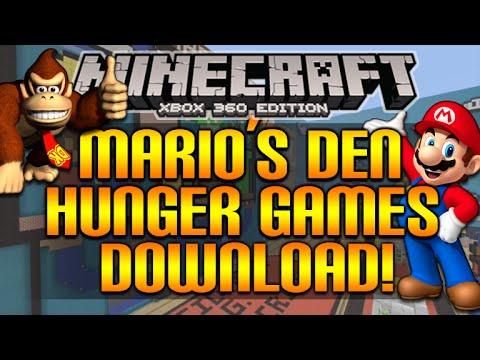 Minecraft (Xbox360/XB1) - NEW AMAZING! MARIO'S DEN HUNGERGAMES SHOWCASE + DOWNLOAD!