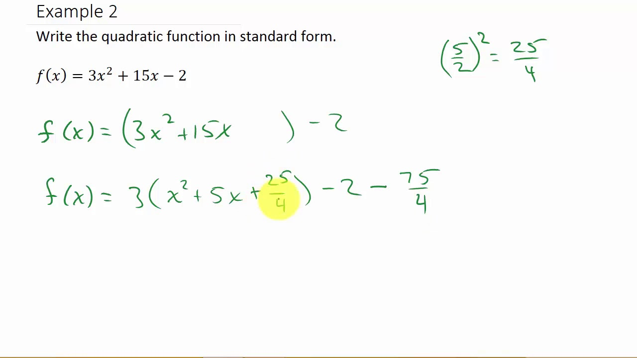 maxresdefault Quadratic Equation In Standard Form Examples on