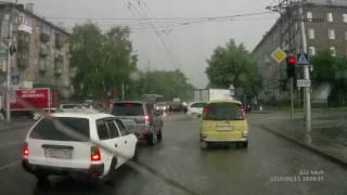 Сильный дождь в Новосибирске 15 июня 2016 года