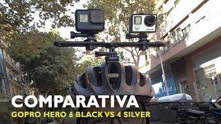 Comparativa Hero 6 Black Vs Hero 4 Silver bicicleta