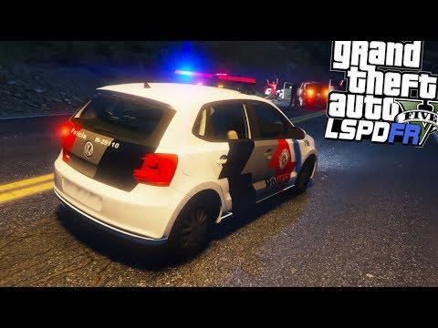 GTA V Rotina Policial - Carro da policia Furtado Perseguição perigosa PMESP #29