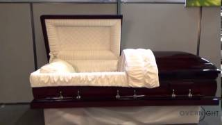 Mahogany Dark Solid Wood With Velvet Interior Casket