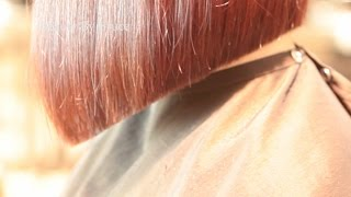A line bob hair cut by Bruce Kushnick of beauty by bruce Thumbnail