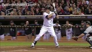 Joe Mauer Baseball Swing Mechanics Slow Motion Hitting Instruction Minnesota Twins MLB Video Clip Ti