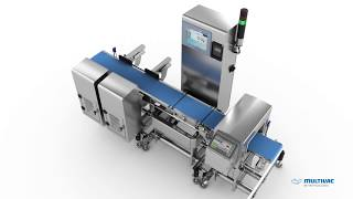 High-precision MULTIVAC Checkweigher I 211 for a consistently high output and pack quality