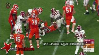 Jordan Leggett (Clemson TE) vs Alabama 2015