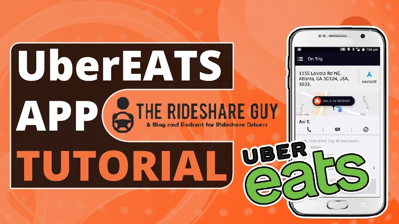 what is the process for uber eats driver