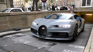 SUPERCARS in LONDON QATAR Royal his $3.5Million Bugatti CHIRON!