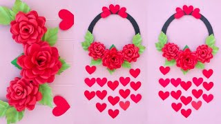 Home Decorating || paper flower wall hanging craft ideas || DIY Wall Hanging Home Decor || Art Ideas