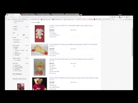 What's in the Bag? Making Money Selling Plush on eBay for Big Profits- Thrift Store Haul
