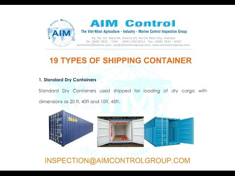 19 types of containers - Agriculture Industry Marine Survey Inspection Group