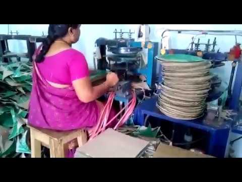 Manual paper plate making machine & Manual paper plate making machine - YouTube