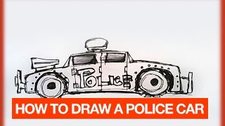 HOW TO DRAW A MAD MAX POLICE CAR FOR ROBBERS