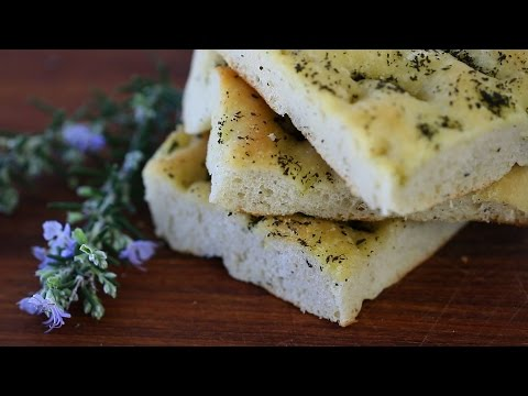 Homemade focaccia bread recipe