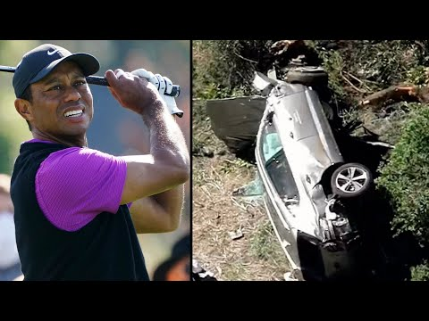 Golfer Tiger Woods has been hospitalized after a single-car collision in California