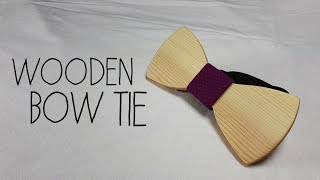 WOODEN BOW TIE - DIY (English Subtitles)