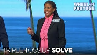 Vonetta solves all three space-themed puzzles in the evening's triple toss up round., subscribe to wheel of fortune for exclusive content: http://bit.ly/wofsubscribeyt, get our newsletter: ...