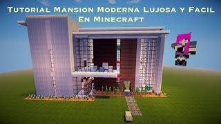 Tutorial Mansion Moderna Lujosa y Facil En Minecraft (PT3)