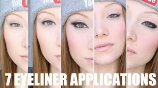 Seven Different Eyeliner Application Tutorial thumbnail