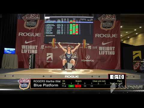 Mattie Rogers USA Weightlifting Junior National Championships 2019