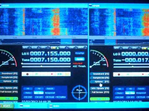 SDR-4 Receiver Using It's Internal And An External Sound Card