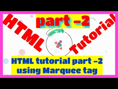 Html tutorial part-2!! using marquee moving text tag must watch
