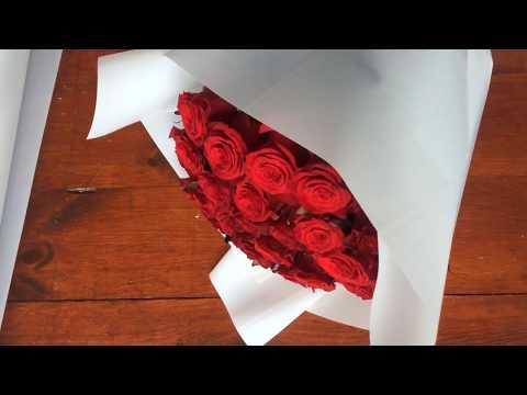 Как красиво упаковать 15 роз