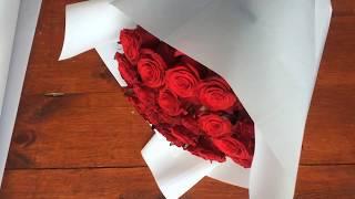 как оформить букет с розами. Как упаковать розы. Букет из роз. Доставка цветов Днепропетровск