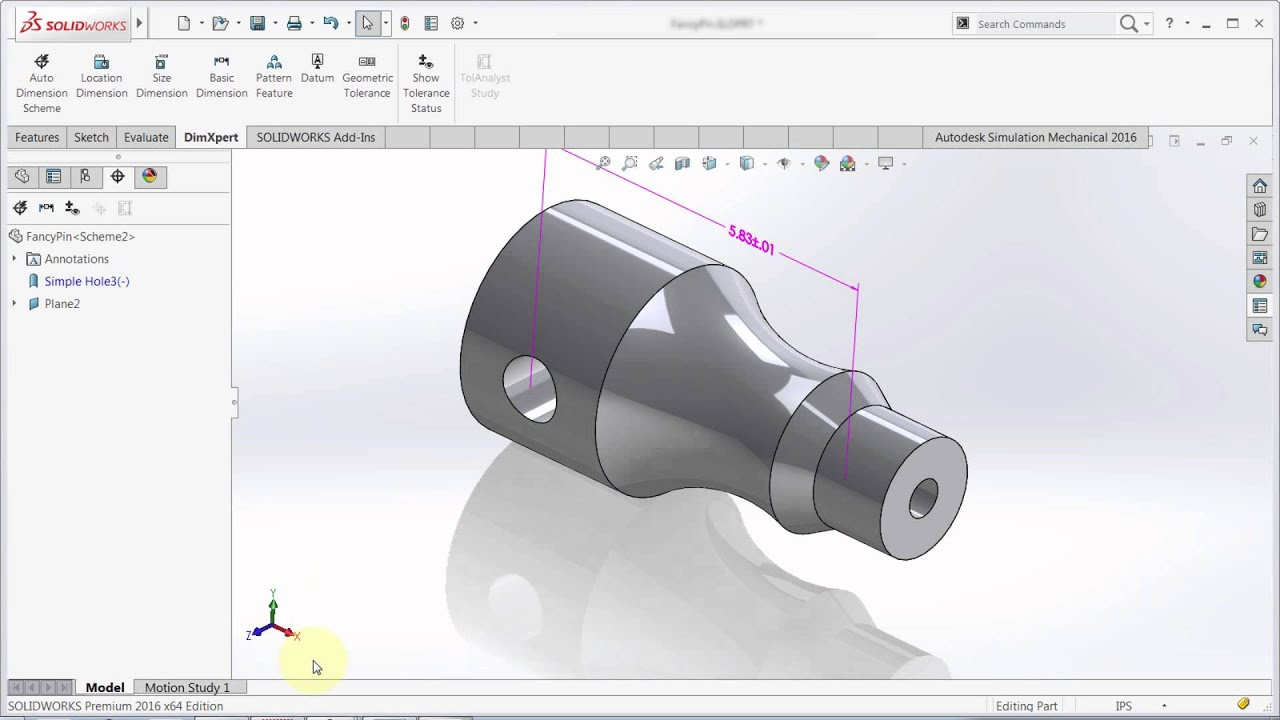 Solidworks 2016 Whats New With Dimxpert Youtube