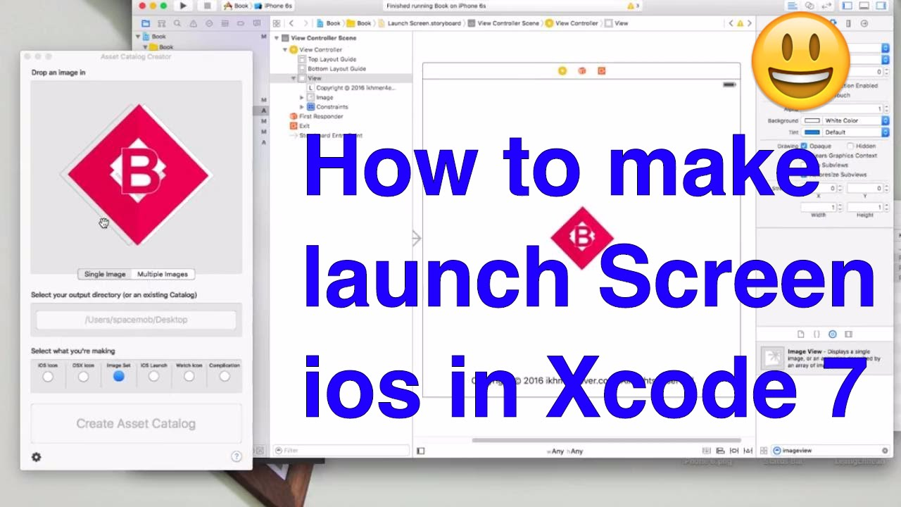 How to make launch Screen ios in Xcode 7 - ios development tutorial