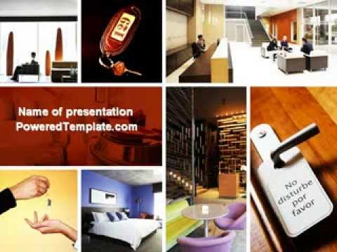 Hotel services powerpoint template by poweredtemplate youtube toneelgroepblik Image collections