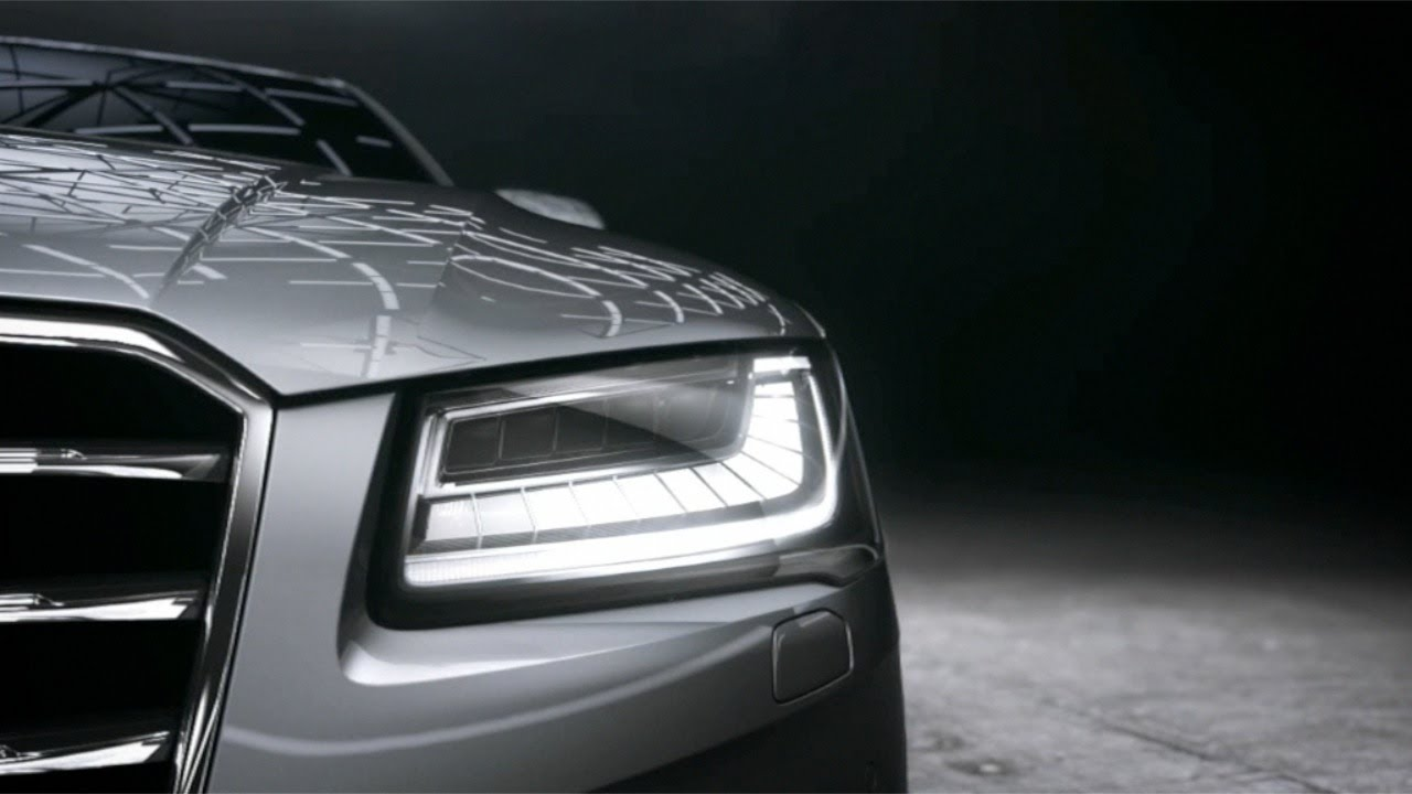 audi a8 2015 matrix led headlights youtube. Black Bedroom Furniture Sets. Home Design Ideas