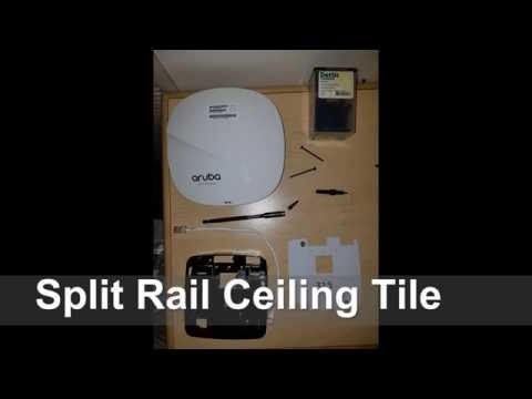 Split Rail Ceiling Tile - Access Point Install @ IRC