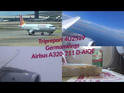 Tripreport 4U2529 BCN-STR Germanwings A320 D-AIQE
